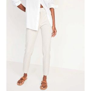 Old Navy High-Waisted Gingham Pixie Ankle Pants